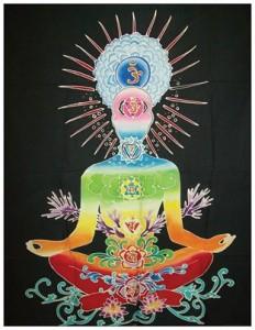 batik bouddha chakra noir